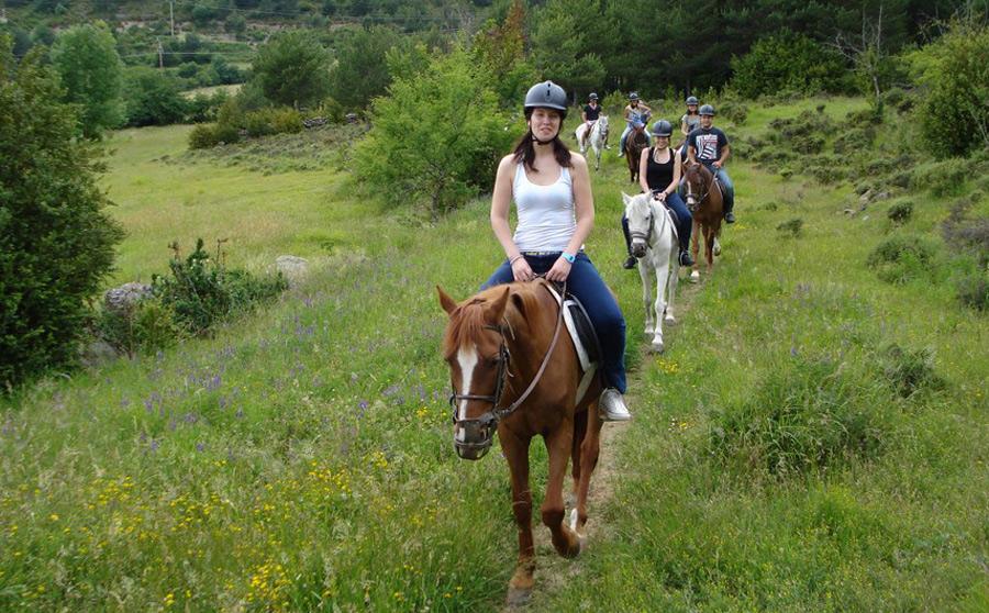 paseos a caballo en el pirineo